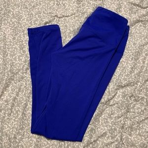 90 Degree By Reflex Pants - Blue Workout Leggings